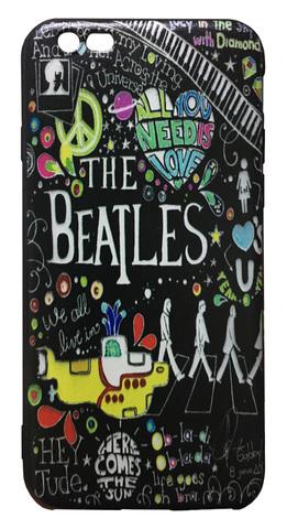 【The Beatles】ザ・ビートルズ「タイトルイラスト」iPhone6/ iPhone6s シリコン TPU ケース