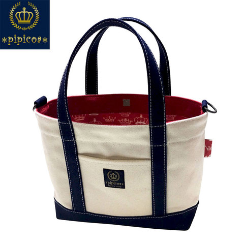 【*pipicoa*/Red Crown Tote Bag】*ピピコア*「レッドクラウン」トートバッグ S-1