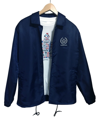 【*pipicoa*Union Jack mania*】 オリジナル コーチジャケット ネイビー L