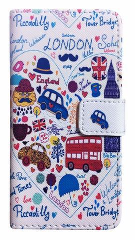 【London】ロンドン イラストマップ iPhone7/ iPhone8カバー ウォレットタイプ(手帳型)
