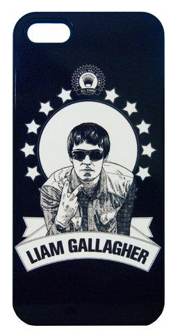 【Oasis/ Liam Gallagher】オアシス リアム・ギャラガー イラスト iPhone5/5s /SE ハードカバー
