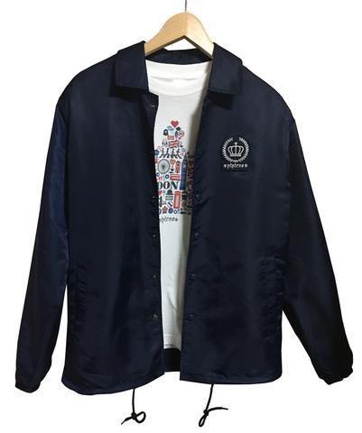 【*pipicoa*Union Jack mania*】オリジナル コーチジャケット ブラック M
