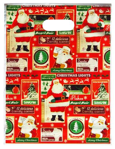 【Christmas】クリスマスプレゼント用袋 ヴィンテージサンタ柄(S)/(L)