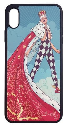 【Freddie Mercury/Queen】フレディ・マーキュリー「イラスト」iPhoneSX Max ハードカバー ケース