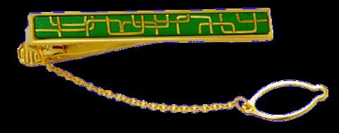 ネクタイピン(角形幾何学・緑漆)