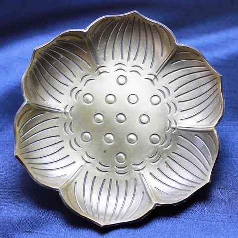 蓮(ロータス) 真鍮皿☆浄化セット2(水晶さざれ版)~ブレスの浄化や空間の浄化に~
