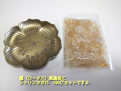 蓮(ロータス) 真鍮皿☆浄化セット~ブレスの浄化や空間の浄化に~