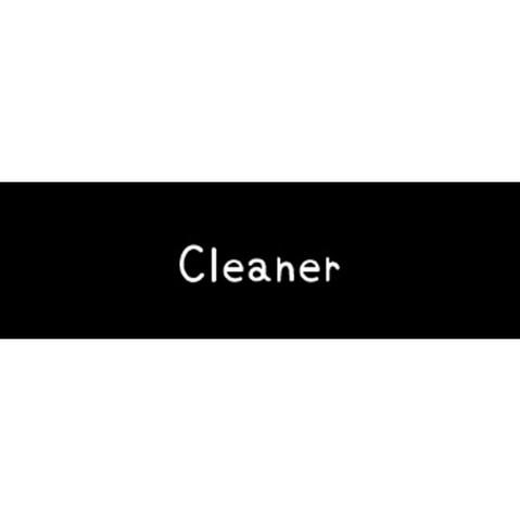 ラベリングカード S【Cleaner】黒 (税込)