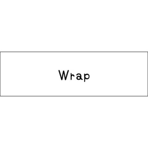 ラベリングカード S【Wrap】白 (税込)