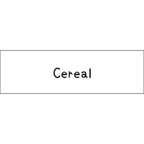 ラベリングカード S【Cereal】白 (税込)