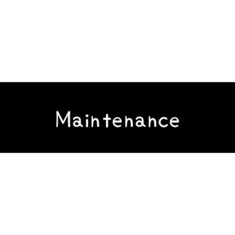 ラベリングカード S【Maintenance】黒 (税込)