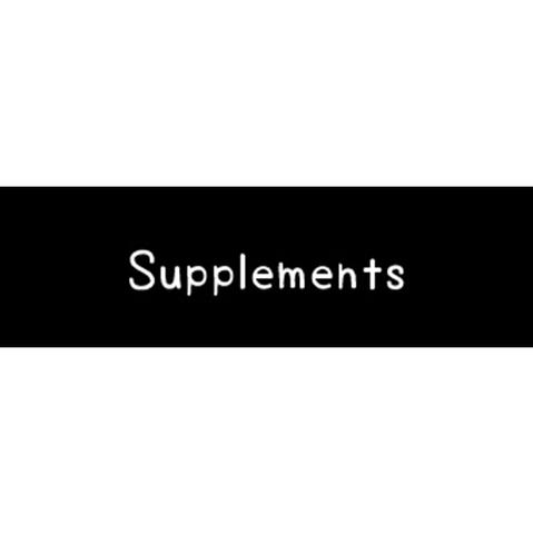 ラベリングカード S【Supplements】黒 (税込)