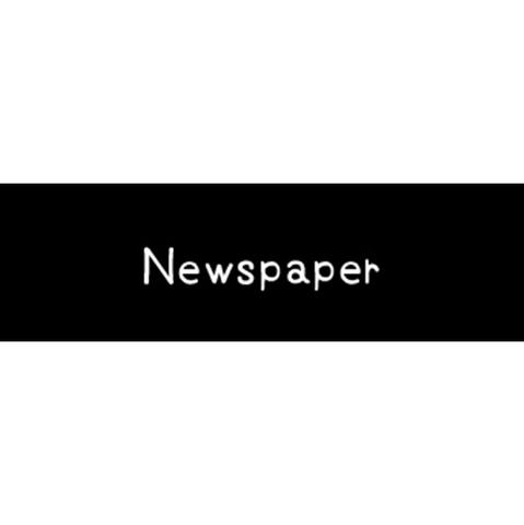 ラベリングカード S【Newspaper】黒 (税込)
