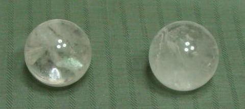 浄化用水晶丸玉(R)2個セット【約27mm球】