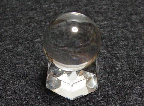 【最上級】天然水晶AA丸玉26-27mm(台座付)