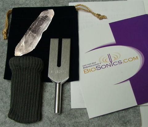 クリスタル・チューナー(Biosonic製/ヒマラヤ水晶ポイント付)