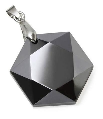 高純度テラヘルツ鉱石六芒星ペンダントトップ