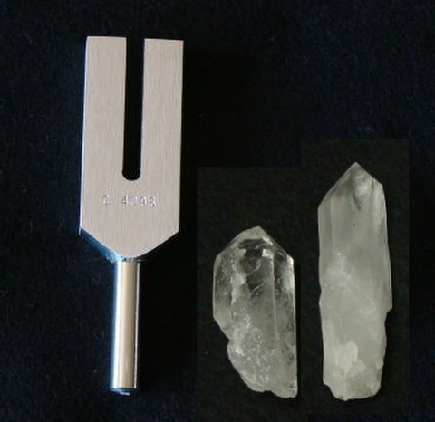 クリスタル・チューナー(Biosonic製【R】水晶ポイント2本付)