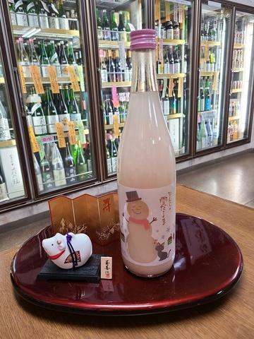 季節限定 ピンクの雪ダルマ 純米にごり酒 720ml