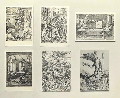 デューラーとドイツ・ルネッサンス展(1972)・絵はがき(D)-「メランコリアⅠ」ほか・計6枚/美術出版デザインセンター(book-5966)送料込み