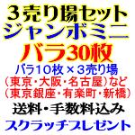 バラ30枚・ミニ1000万/3売り場セット