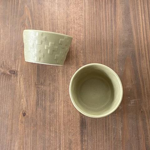 ピスタチオクロスカップ /よしざわ窯