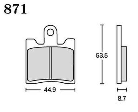 RK UA7 871 ブレーキパッド