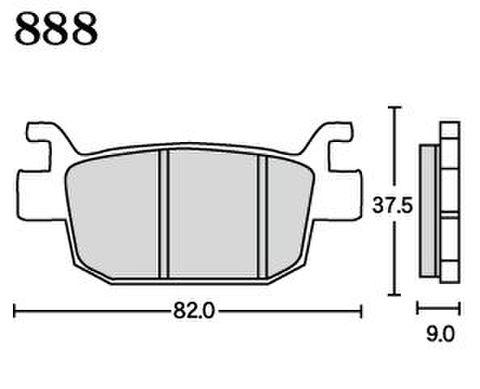 RK FA5 888 ブレーキパッド