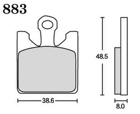 RK MAX 883 ブレーキパッド