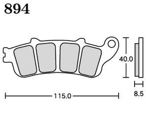 RK MAX 894 ブレーキパッド