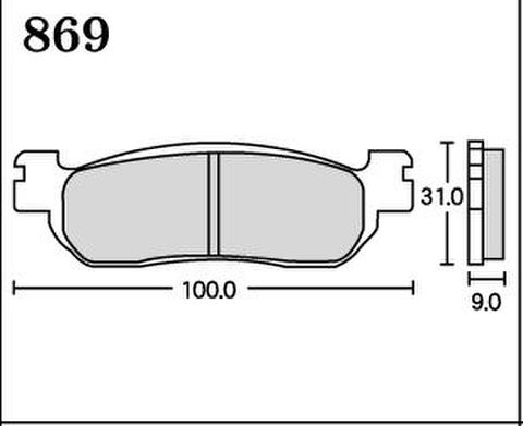RK MAX 869 ブレーキパッド