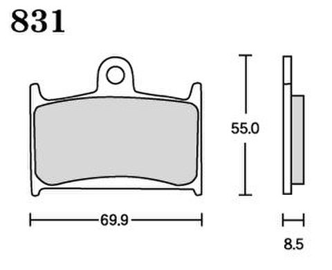 RK MAX 831 ブレーキパッド