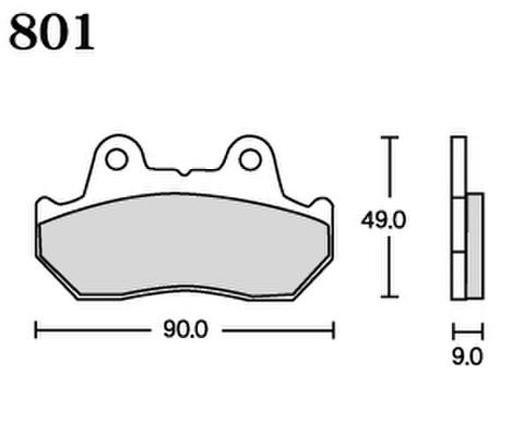 RK UA7 801 ブレーキパッド