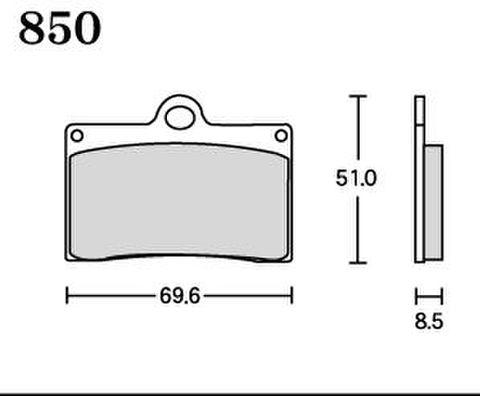 RK UA7 850 ブレーキパッド