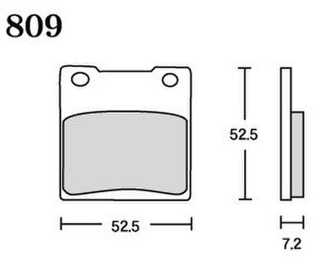 RK MAX 809 ブレーキパッド