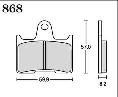 RK MAX 868 ブレーキパッド
