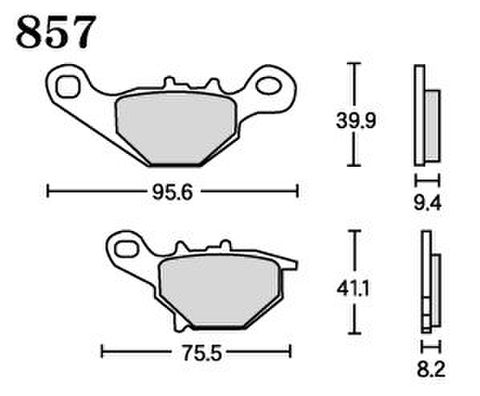 RK UA7 857 ブレーキパッド