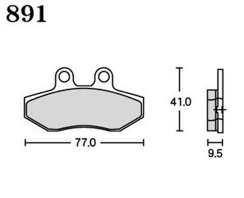 RK FA5 891 ブレーキパッド