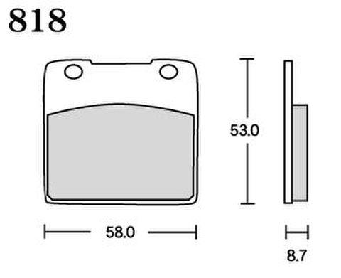 RK UA7 818 ブレーキパッド    *