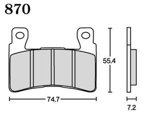 RK UA7 870 ブレーキパッド