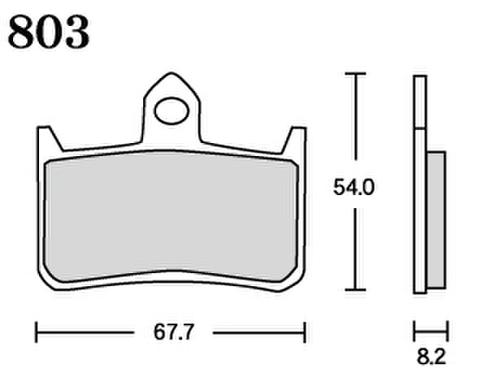 RK UA7 803 ブレーキパッド