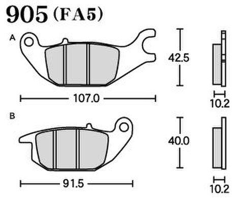 RK FA5 905 ブレーキパッド