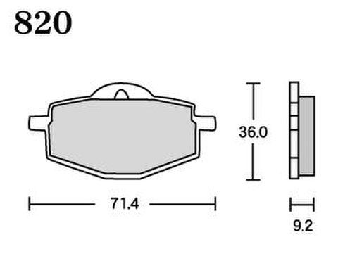 RK UA7 820 ブレーキパッド