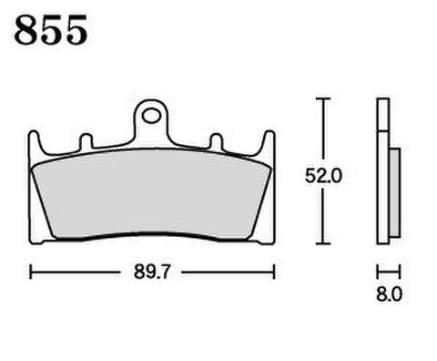 RK UA7 855 ブレーキパッド