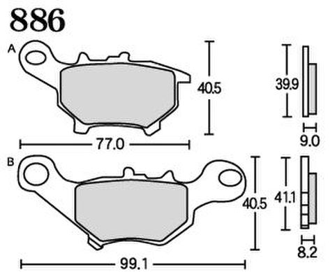 RK FA5 886 ブレーキパッド