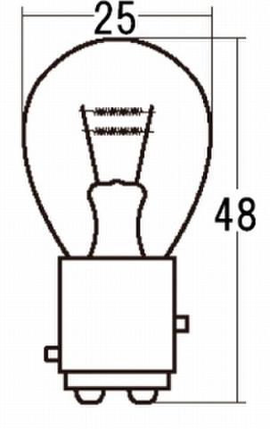 スタンレー A4845 12V27/5W S25 10ケ (1箱10ケ入)