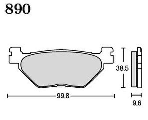 RK FA5 890 ブレーキパッド