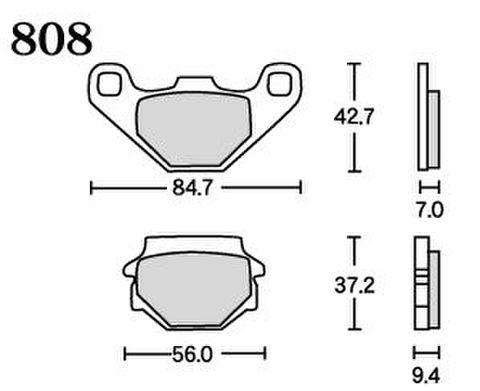 RK UA7 808 ブレーキパッド