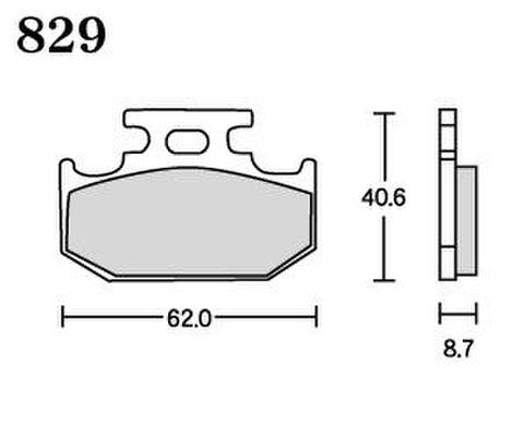 RK MAX 829 ブレーキパッド