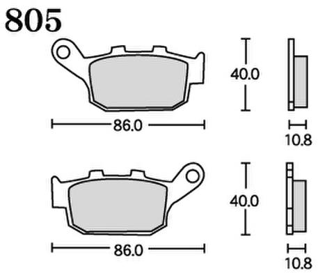 RK UA7 805 ブレーキパッド